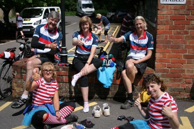 Cyclists saddle up to raise £1m for heroes