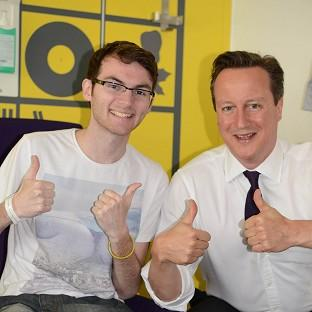 Stephen Sutton with Prime Minister David Cameron