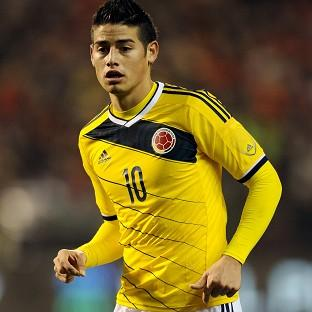 James Rodriguez scored Colombia's third goal