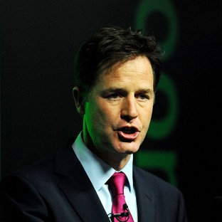 Nick Clegg is at odds with the Tories over trade union funding