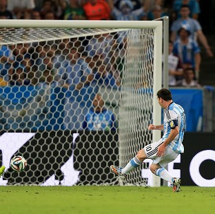 Lionel Messi doubled Argentina's lead with a glorious goal