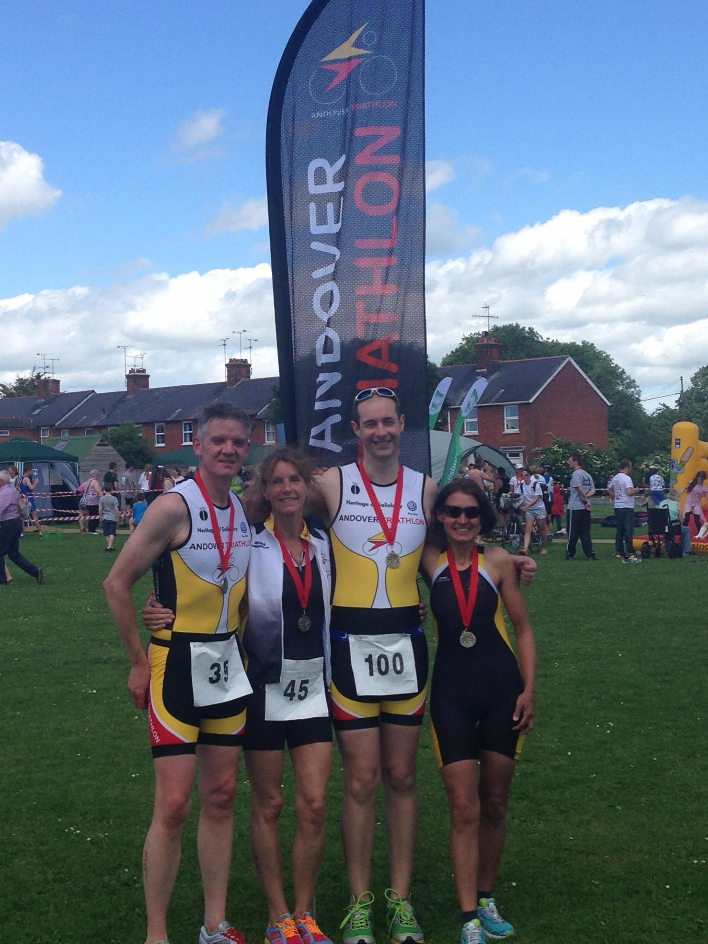 Andover's triathletes at the Durrington race