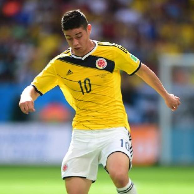 Andover Advertiser: James Rodriguez scored Colombia's first goal