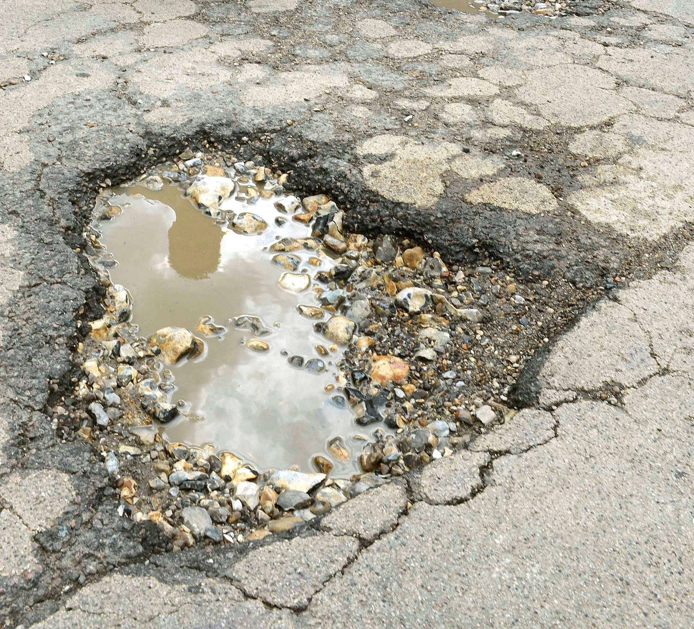 Following damaging winter weather, the council will spend a six-figure sum repairing Hampshire's roads.