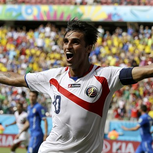 Bryan Ruiz celebrates after scoring the winner (AP)