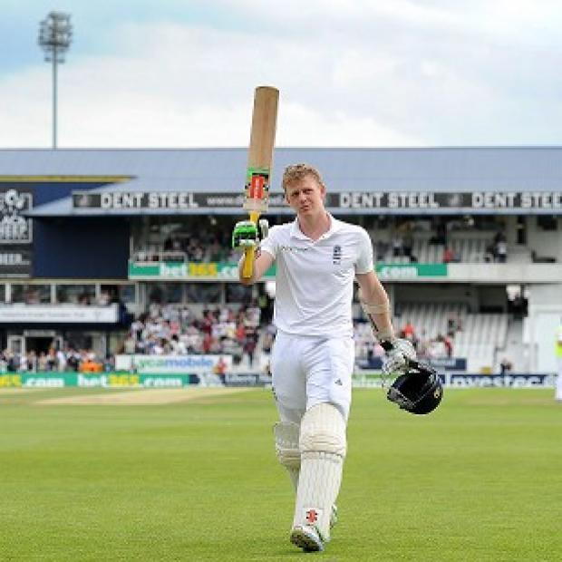 Andover Advertiser: Sam Robson reached his first international century at Headingley