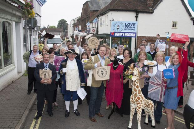 Andover Advertiser: Bishop's Waltham traders and civic chiefs get ready to launch Totally Locally on July 4