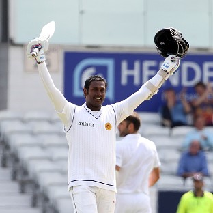 Angelo Mathews scored a century during day four of the second Investec Test match at Headingley