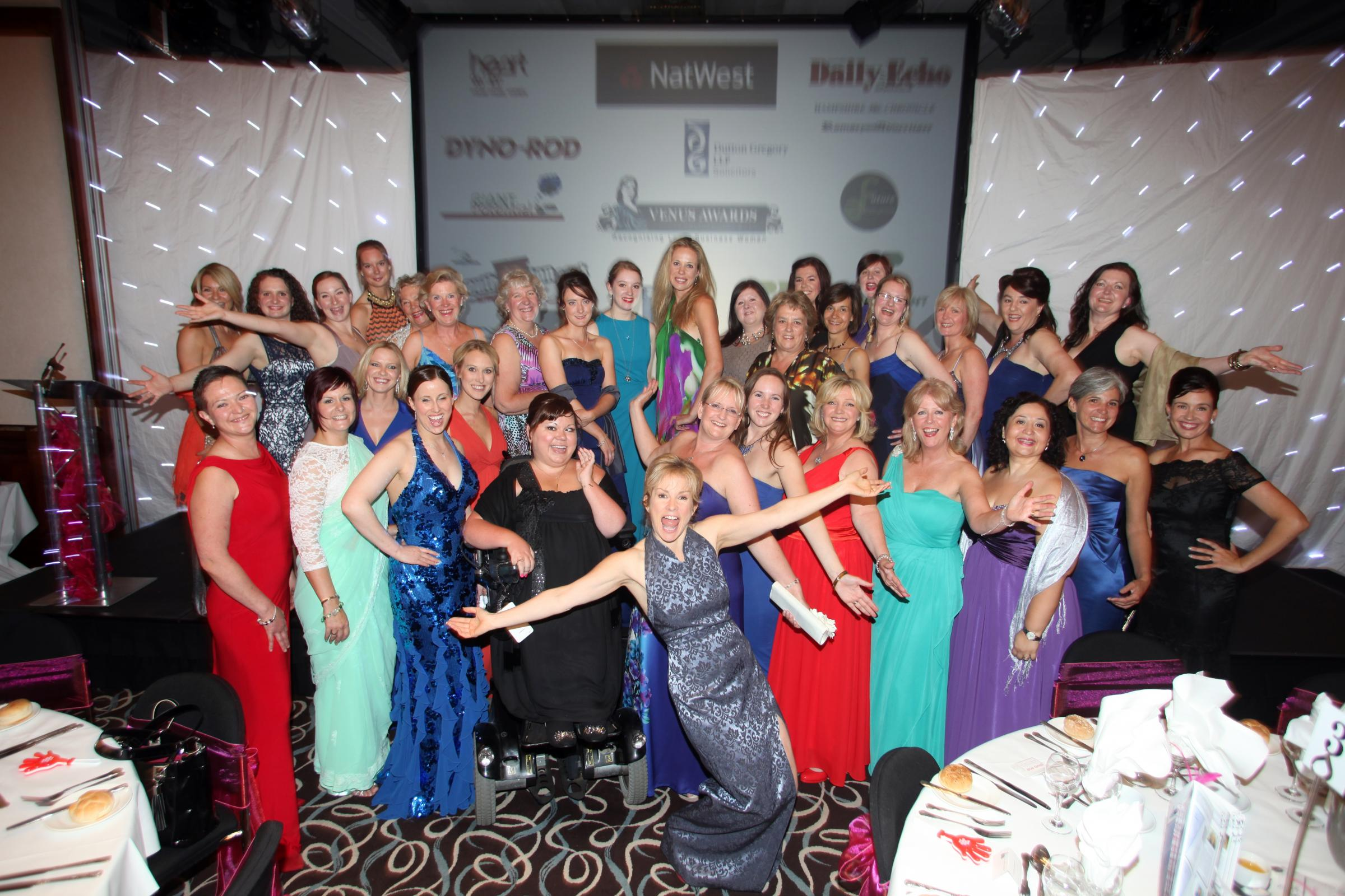 The finalists at last year's Daily Echo-backed Venus Business Awards.