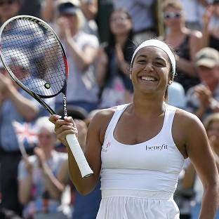 Heather Watson, pictured, defeated Ajla Tomljanovic in straight sets
