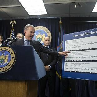Andover Advertiser: New York State Attorney General Eric Schneiderman announcing that he is suing Barclays (AP)