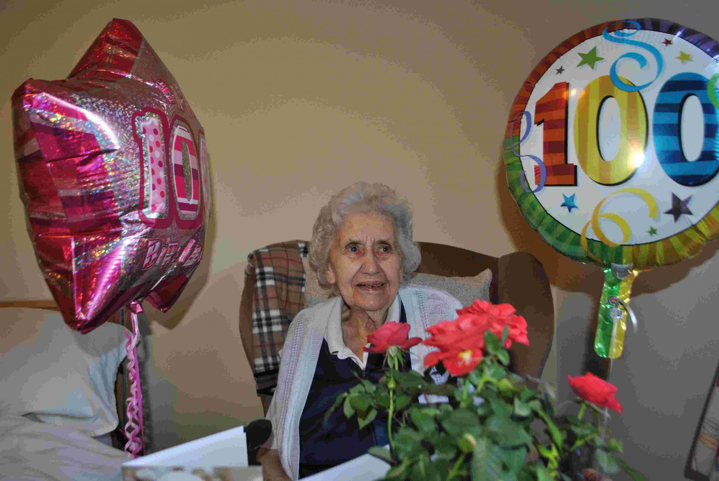 Winifred celebrates becoming a centenarian