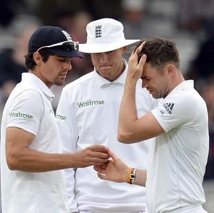 Andover Advertiser: Kevin Pietersen believes Stuart Broad, centre, and James Anderson, right, looked jaded at Headingley