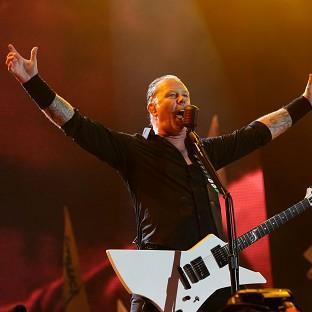 Andover Advertiser: James Hetfield of Metallica performing on the Pyramid Stage at the Glastonbury Festival
