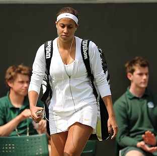 Madison Keys was suffering with a thigh strain