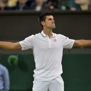 Novak Djokovic eased into the quarter-finals of Wimbledon on Monday