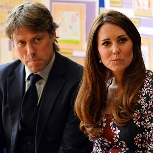 Cheers for Kate on school visit