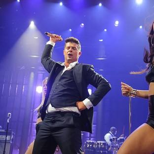 Critics have accused Robin Thicke (left) of sexism