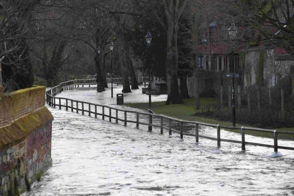 Winchester suffered severe flooding in February