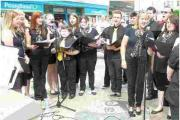 Choir's on song at town centre gig