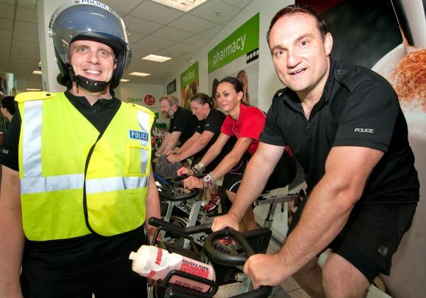 Police staff pedal for son of officer