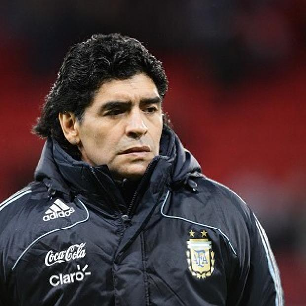 "Andover Advertiser: Former Argentina star Diego Maradona, pictured, believes things look ""bleak"" for his country at the World Cup"