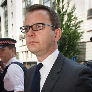 Andy Coulson arrives at the Old Bailey where he was jailed by a judge for 18 months