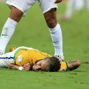 Andover Advertiser: Brazil's Neymar will miss the rest of the World Cup