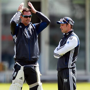 Andrew Strauss, right, has apologised after inappropriate comments about former team-mate Kevin Pietersen were broadcast