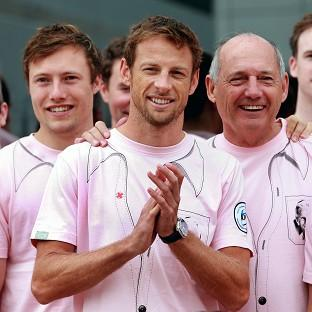 Jenson Button and McLaren wore pink to commemorate the memory of his father who passed away in January