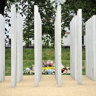 Andover Advertiser: Messages were daubed on the July 7 memorial in London's Hyde Park