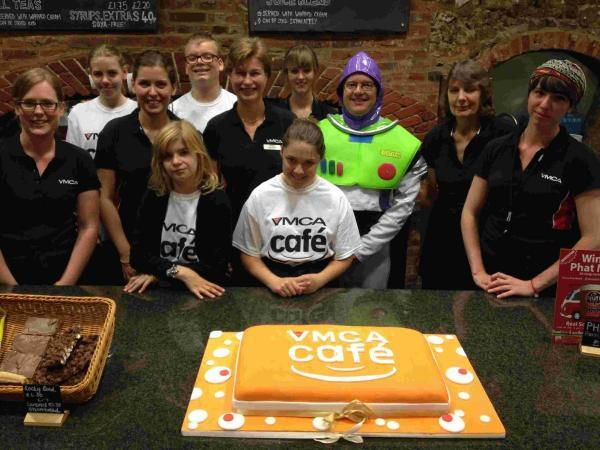 A cake was baked to celebrate the café's launch