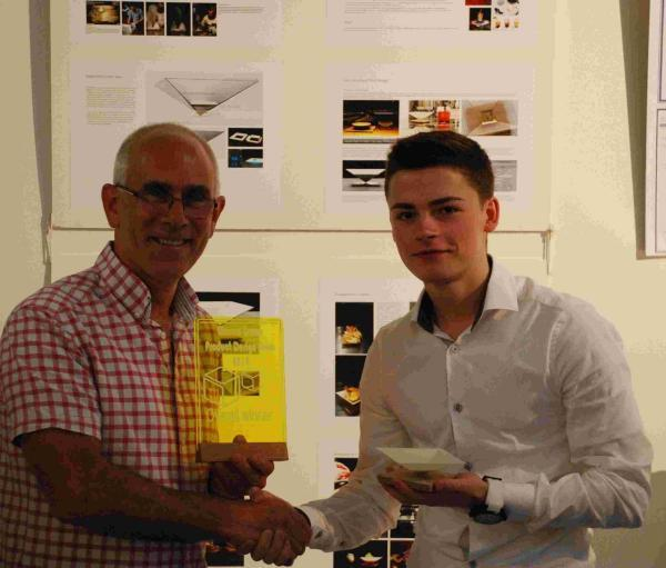 Andover Advertiser: Winner Ben Nott received his award.