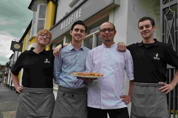 Emma Giacomazzo, Manager Neil Downton, Head Chef Alex Thomelin and Jeremy Greverand