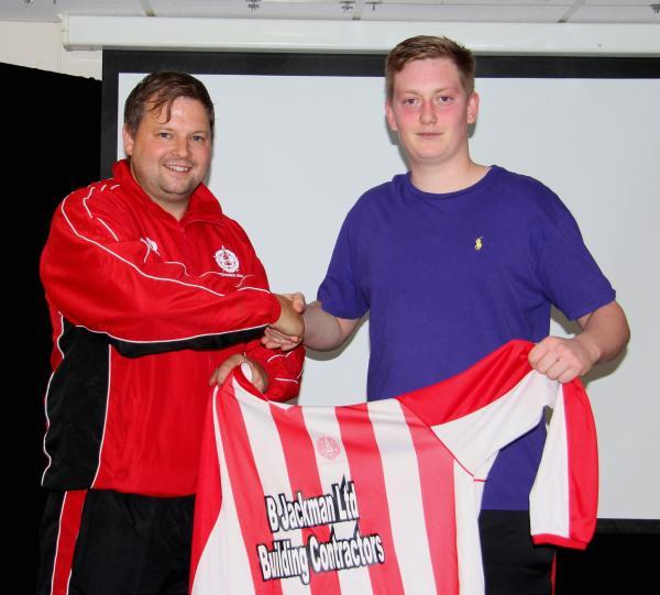 New Whitchurch keeper Brad Snelling (right) with boss Carl Bennett