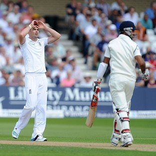 James Anderson, left, and the England bowlers toiled away with little success