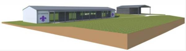 Andover Advertiser: An impression of how the hut will look.