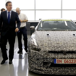 David Cameron unveiled the new powers during a visit to Williams F1 in Grove, Oxfordshire