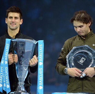 Rafael Nadal, right, was runner-up to Novak Djokovic, left, at the Barclays ATP World Tour Finals in 2013