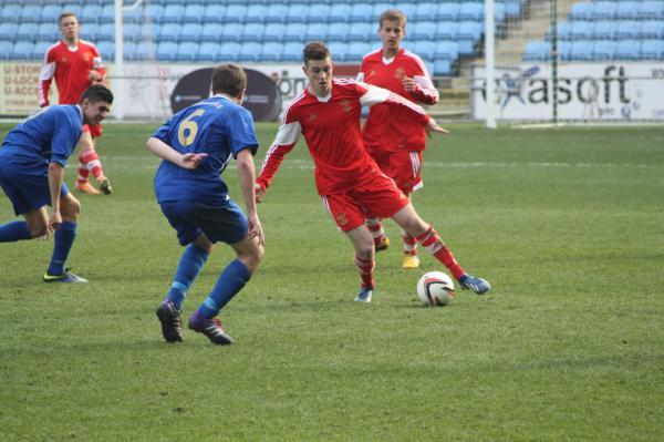 Charlie Gunson scored in Town's friendly on Thursday having moved up to the senior squad