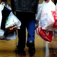 Levy call over plastic bag use rise