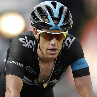Richie Porte, pictured, is currently second, two minutes 23 seconds behind leader Vincenzo Nibali (AP)