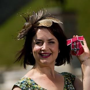 Ruth Jones received an MBE for services to Entertainment