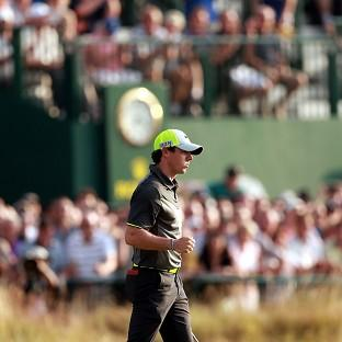 Rory McIlroy had a strong second round at the Open