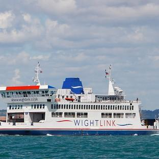 A Wightlink ferry on its way to F