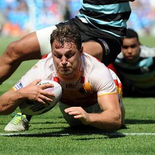 Elliott Whitehead crossed for a hat-trick of tries for Catalan