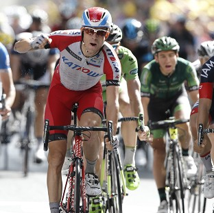 Norway's Alexander Kristoff won the 15th stage of the Tour de France (AP)