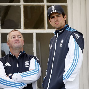 Paul Farbrace, left, insists Alastair Cook is the right man to lead England