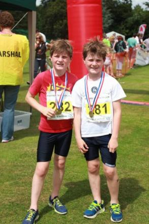 The Godson twins at the Andover Triathlon