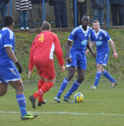 Ike Robertson was on target twice for Town at Winchester Castle
